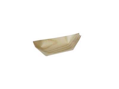 Træbåd i Fyrrespån 24cm 100 stk/pak