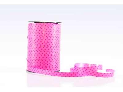 Gavebånd prikket pink