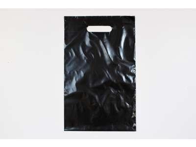 Plastikbærepose 25x40 cm sort pakke med 1000  stk. minimum køb