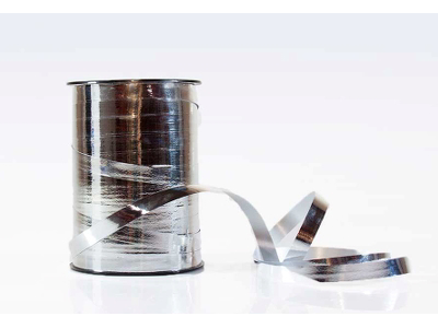 Gavebånd metallic 5mm sølv