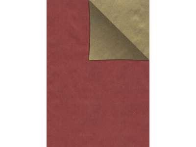 Julepapir 2-sidet rød/guld