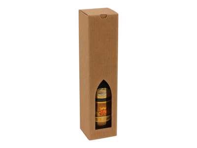 Vinkarton til 1  flaske  brun bølge