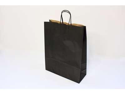 Bæreposer sort no.3 med twistet hank
