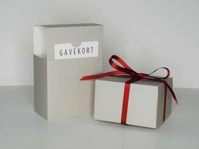 Gavekortæske 11x11x7 cm GRÅ
