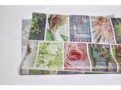 Mønstret blomsterpapir i ark