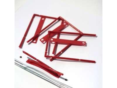 B-binder rød m/overligger og etiket 100stk/pak