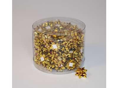 Små metallicsløjfer guld