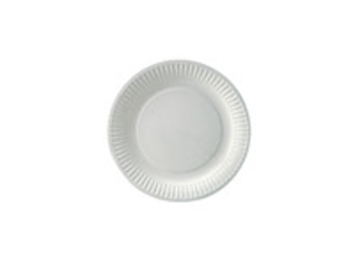 Paptallerken hvid 18 cm standard bionedbrydelig (100)