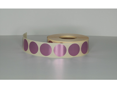 Etiketter Ø30mm Metallic rosa
