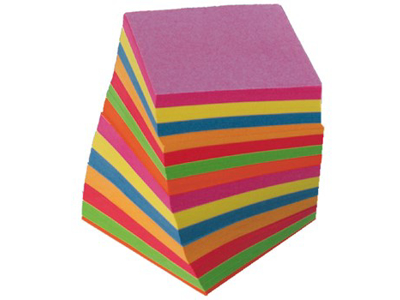Kubusblok refil Ass. farver 700 ark.