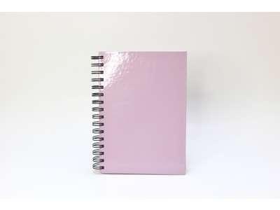 Notesbog A5 Rosa, spiralryg