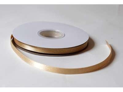 Silkebånd 9mm glitter - lys guld