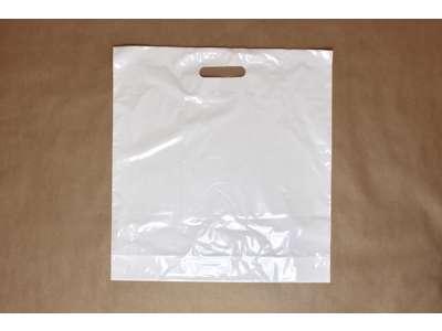 Plastikbærepose af genbrugsplast 42x45/5 cm