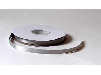Silkebånd 9mm glitter - Sølv
