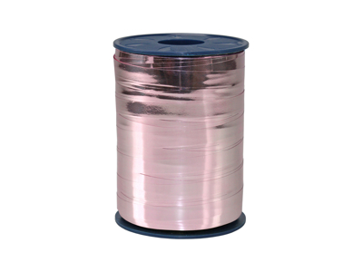 Gavebånd metallic 10mm Rosa