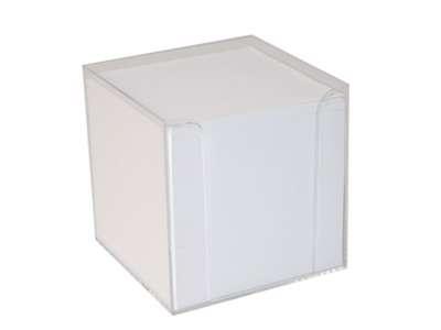 Kubusblok m/holder Hvid