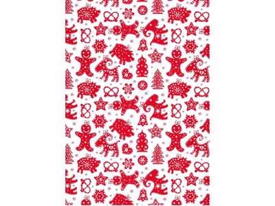 Håndrulle Gingerman 1 Rød 110cm x 50 m