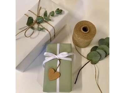 Gavepapir moss grøn 55 cm grøn.