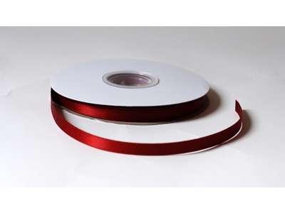 Silkebånd 9mm glitter - Rød