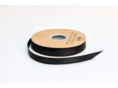 Genbrugsbånd rillet 16mm sort