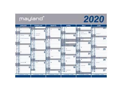 Mayland Vægkalender 2x6md. 2020