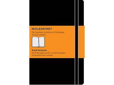 Moleskine Classic large sort, linjeret