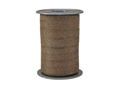Gavebånd glitter 10mm - Brun