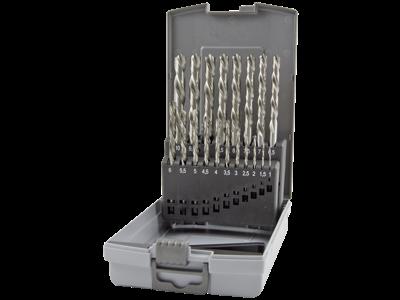 Ruko Spiralborsæt DIN338N HSS-G 1-10×0,5mm venstreskær