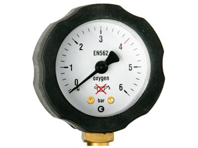 AGA Arbejdsmanometer ox. 6 bar fixic. ht