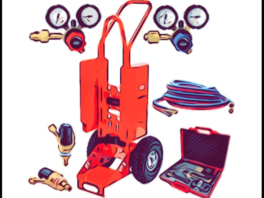 Ilt- og gassvejsning og reduktionsventiler
