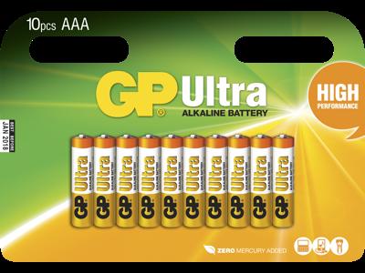 GP Batteri 24AU LR03/AAA 1,5V 10 stk
