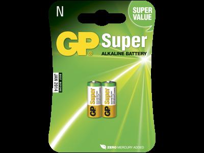 GP Batteri Super Alkaline 910A/LR1 1,5V, 2 stk