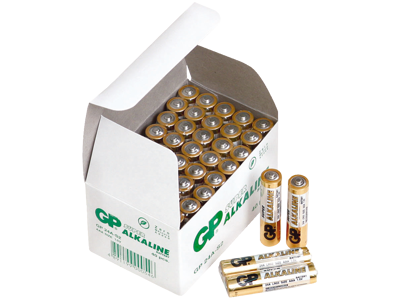 GP Batteri Super Alkaline AAA 24A/LR03 1,5V, 40 stk
