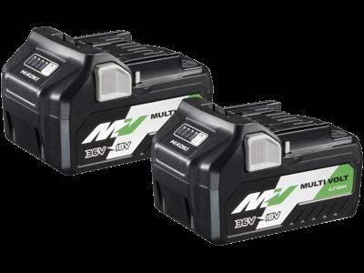 Hikoki Batteripakke 2×BSL36A18 36-18V/2,5-5,0Ah multivolt