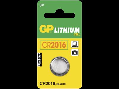 GP Knapbatteri CR 2016 3V