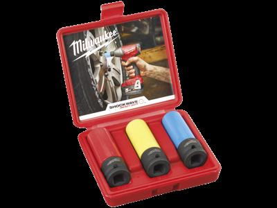 Milwaukee Slagtoppe auto-sæt 3 stk 17-19-21mm