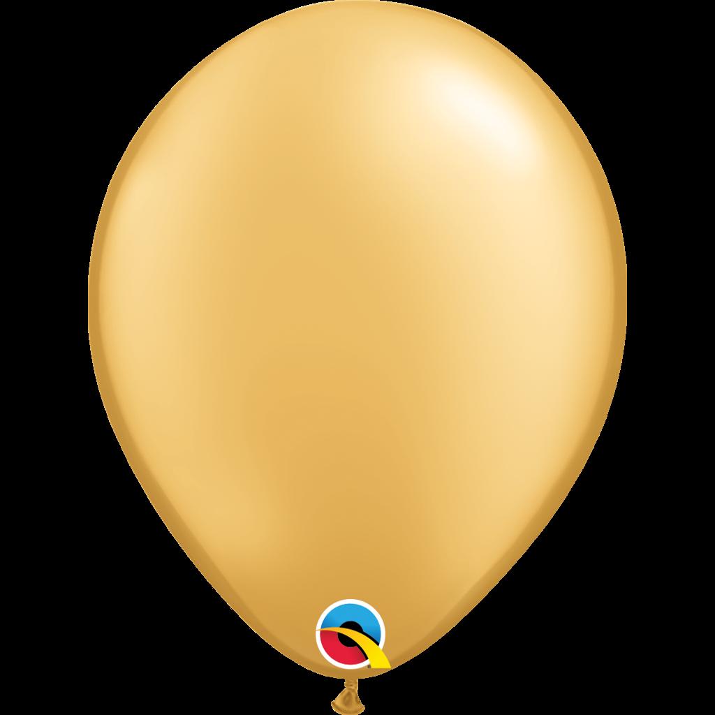 GULD BALLON 27 cm. - LØSSALG