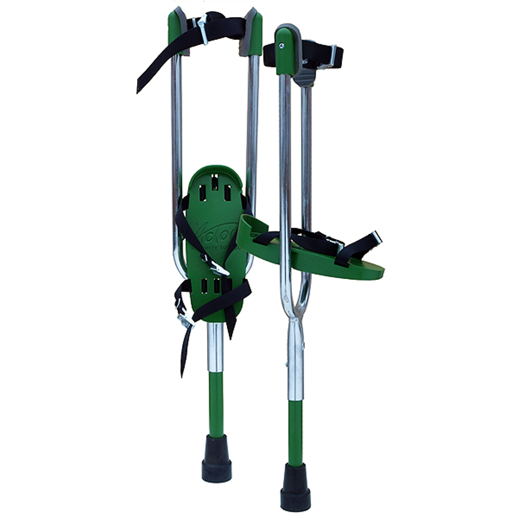 GREEN ACTOY STILTS - 5-8 years