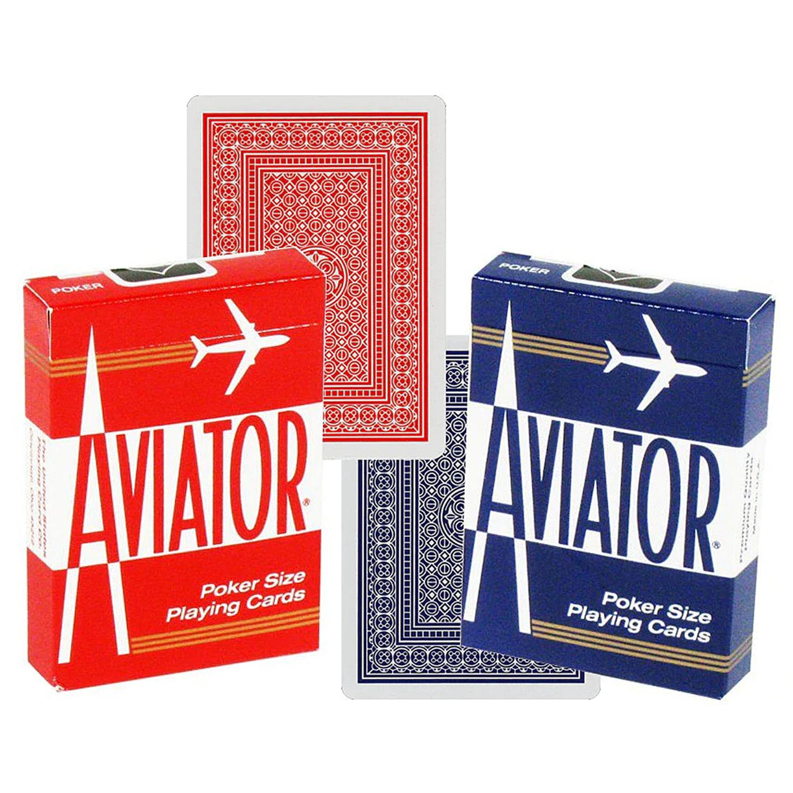 AVIATOR POKER SIZE PLAYING CARDS - Pegani