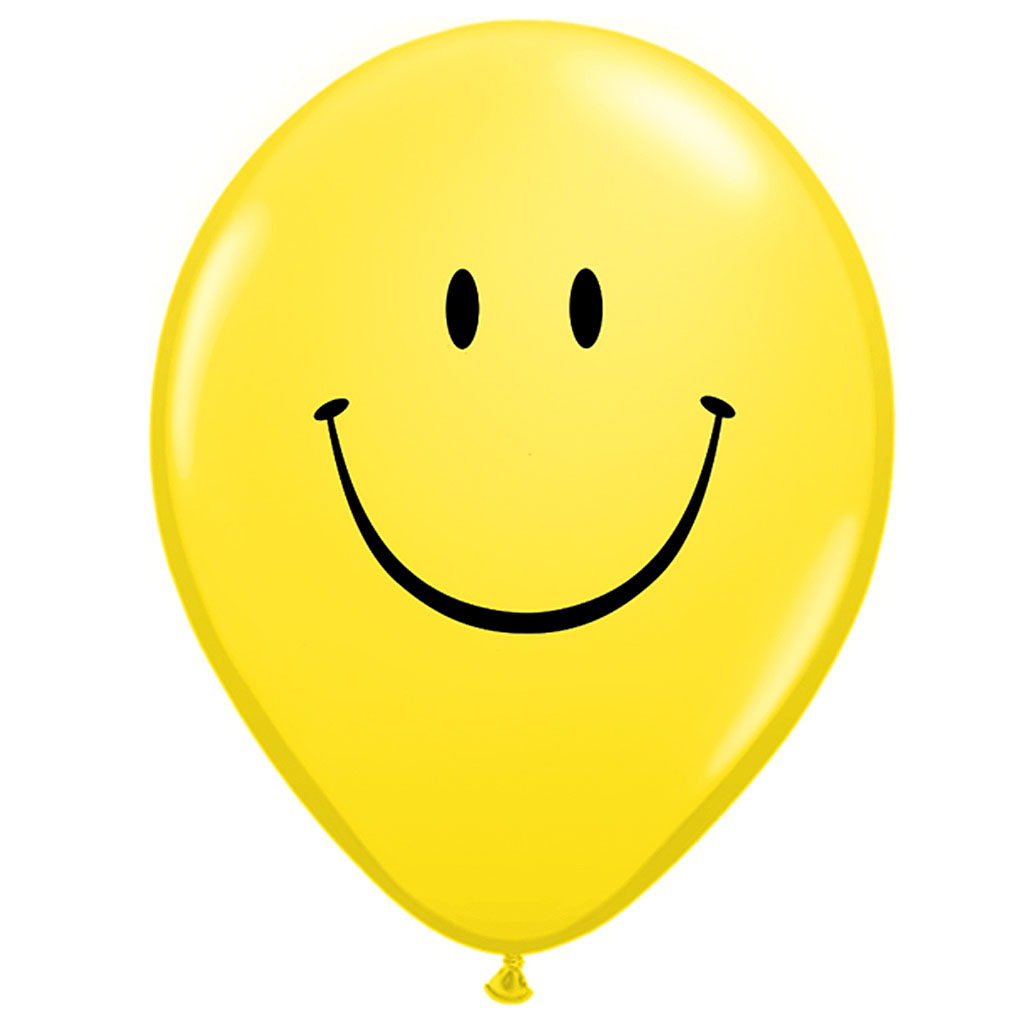 SMILEY BALLONER - 25 stk.