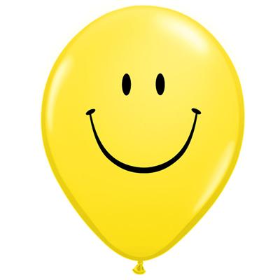 "SMILEY 11"" BALLOONS - 25 pcs."