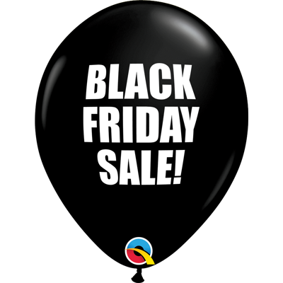 BLACK FRIDAY BALLOONS - 25 pcs.