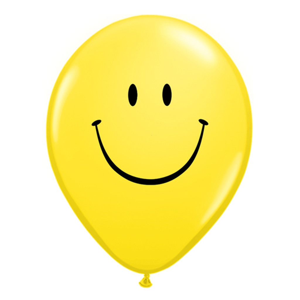 "SMILE FACE BALLOON 5"" - yellow"