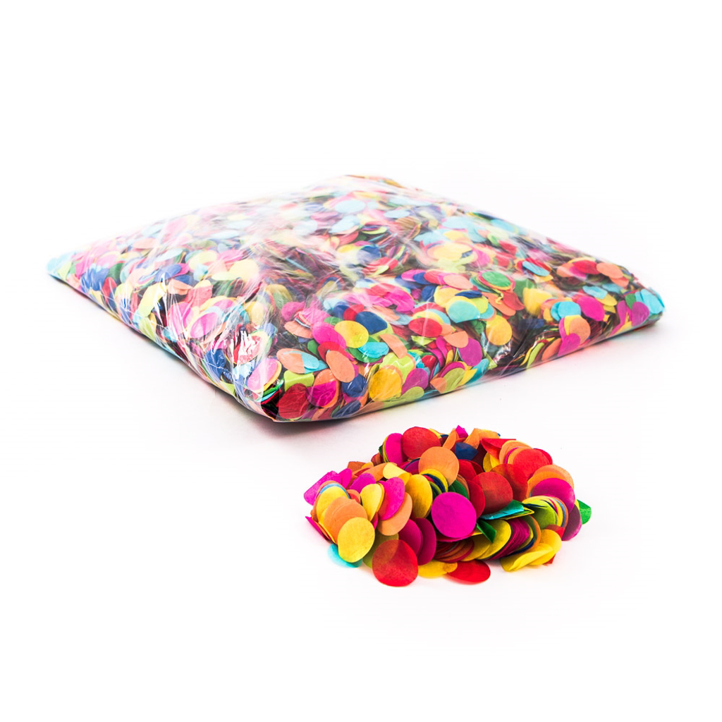 PAPER CONFETTI - MIX COLOURS - 250 gram