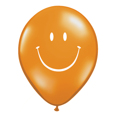 """SMILE FACE BALLOON 5"""" - assorted colours"""