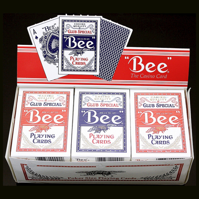 BEE POKER CARDS - red or blue