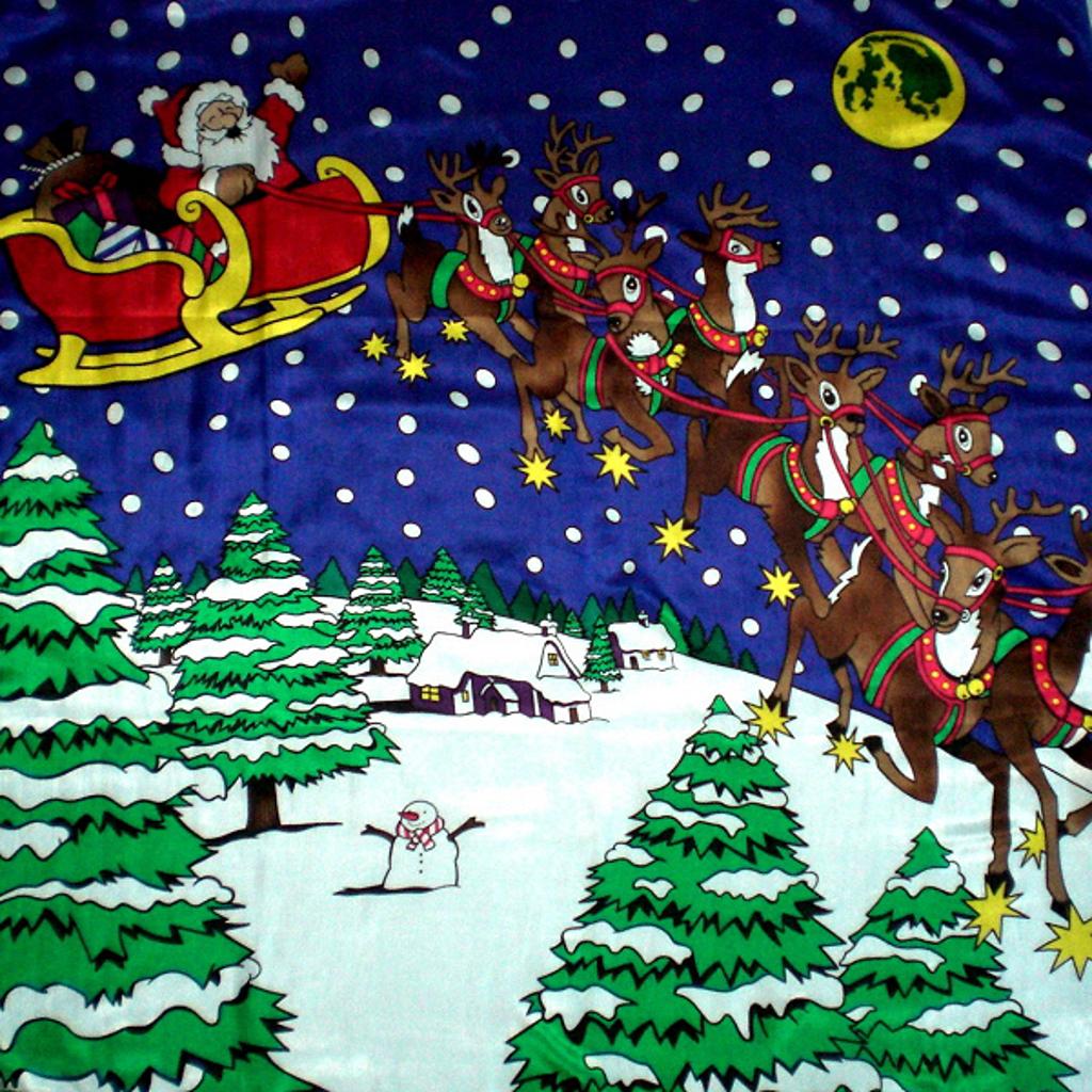 GIANT CHRISTMAS SILK