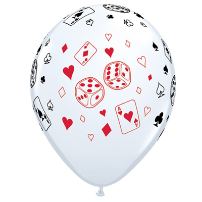 "CARD & STARS 11"" BALLOON - 25 pcs."