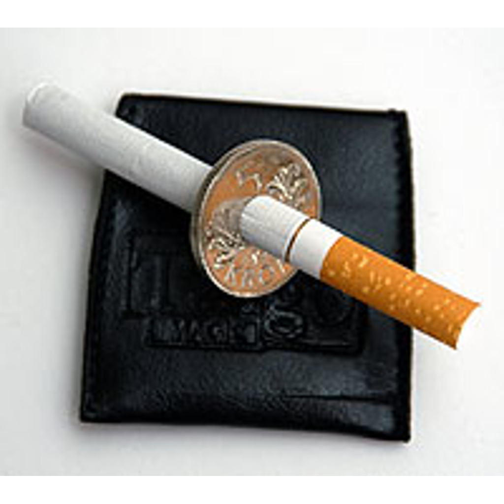 CIGARETTE THRU COIN - Norwegian 5-krone