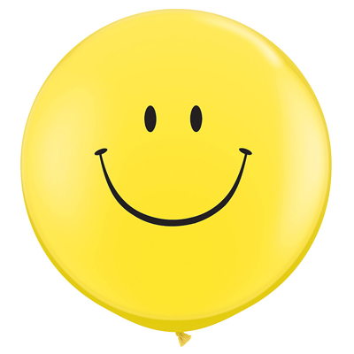 GIANT 3' SMILEY BALLOON - 2 pcs.